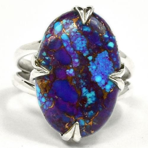 purple copper turquoise ring ebay