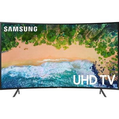 "Samsung UN65NU7300 65"" Class Smart Curved LED 4K HDR UHD TV With Built-In Wi-Fi"