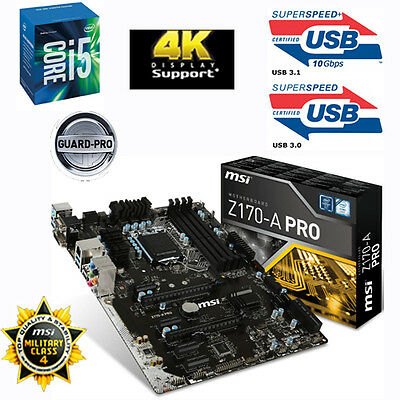 Bundle Intel Core i5 6600K 4x 3,90GHz+MSI Z170-A PRO USB3.1-Sonderaktion