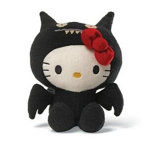 Hello Kitty Plush Uglydoll Ice Bat Black Doll Sanrio Toy Kawaii New