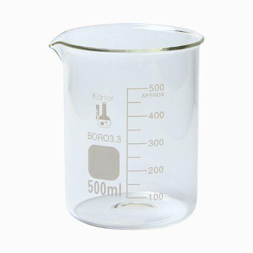 500 ml Low Form Graduated Glass Beaker Karter Scientific 213D26 - Single