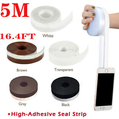 5M Door Bottom Self Adhesive Weather Stripping Silicone Rubber Seal Sweep -