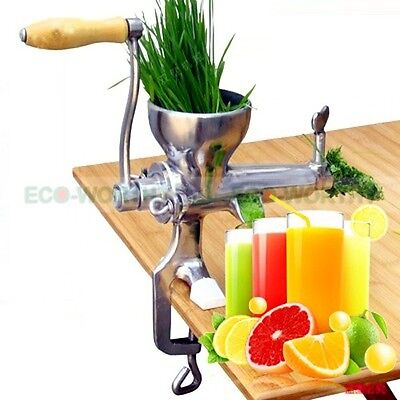 Stainless Steel Manual Wheat Grass Juicer Hand Fruit Juicer Vegetable New