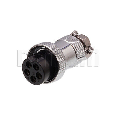 10101510112 Circular Cable Connector 5 Pin Female Silver