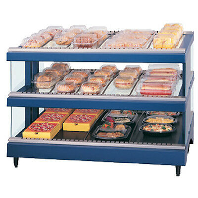Hatco Gr3sds-27d Dual Shelf Slanted Display Warmer With Heated Glass Shelves