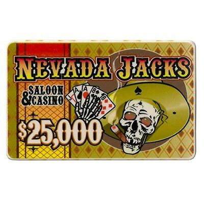 - Nevada Jack 40g High-Roller Ceramic Poker Plaques, $25,000, 5-pack