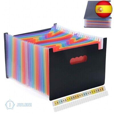 Amaza Clasificadores Carpetas de Acordeón, Colores Archivador (Multicolor)