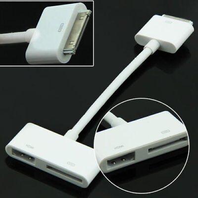 Digital AV HDTV Adapter 30 Pin Dock Connector to HDMI for iPad 2/3 iPhone 4S B
