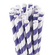 Purple Drinking Straws