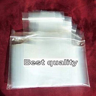 """100 3""""x 3"""" Clear Ziplock Plastic resealable Poly BAGS-2 Mil Jewelry-High Clarity"""