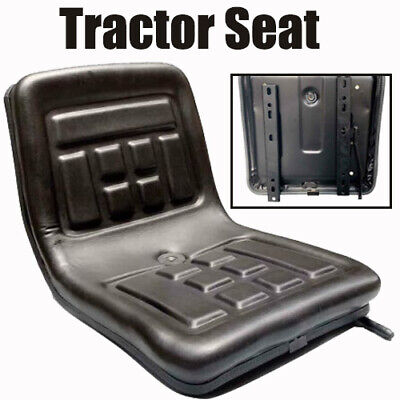 Back Rest Tractor Seat Black Mini Forklift Digger Thickly-padded Pvc Waterproof