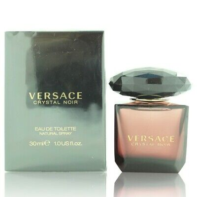 Versace Crystal Noir 1.0 Oz Eau De Toilette Spray By Versace New Box For Women