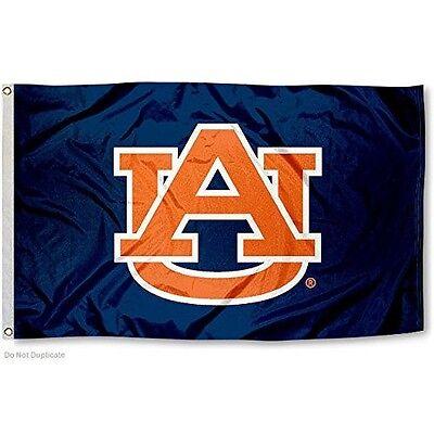 AUBURN TIGERS FLAG LARGE 3'X5' UNIVERSITY OF AUBURN: FREE SHIPPING (University Large Flag)