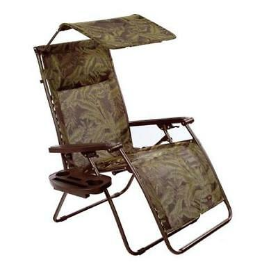 deluxe xl gravity chair recliner with canopy