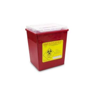 2 Gallon Sharps Container Bio-hazard Container Syringe Needle Disposal 3box