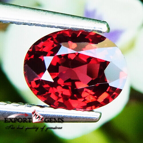 UNHEATED 1.08CT NATURAL RED OVAL SPINEL MOGOK