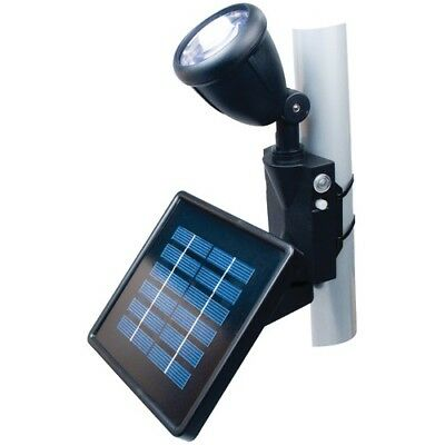 Black Directionally Focused Solar LED Flag Light for Flag Poles with Hardware