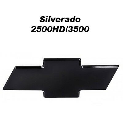 03-06 Chevy Silverado 2500 HD 3500 Ft Billet Bowtie Grille Emblem Smooth - Black
