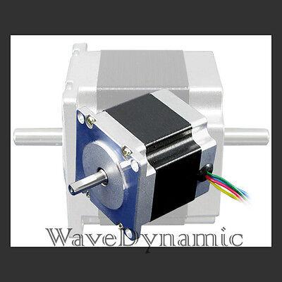 Nema 23 2.8a 127oz Dual Shaft Stepper Stepping Motor For Diy Cnc And Co2 Laser