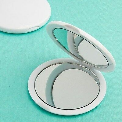 144 White Compact Mirror Wedding Bridal Shower Birthday Baby Party Gift Favors - Bulk Compact Mirrors