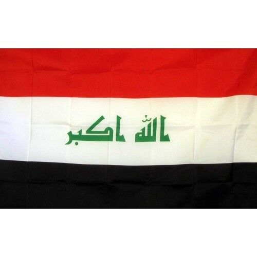 Iraq Flag Banner Sign 3
