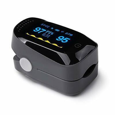 Oximetro Dedo Profesional de Pulso, Pantalla LED Saturación de (Negro)