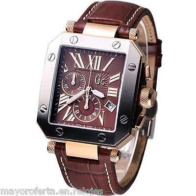 OROLOGIO UOMO GUESS COLLECTION BICOLORE 50001G1 PVP CON MOVIMENTO SVIZZERA