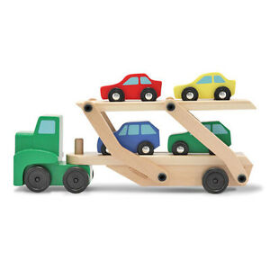 Melissa-and-Doug-Wooden-Truck-Car-Carrier-Play-Set-NEW-classic-toy