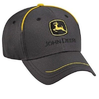 Emo Hats (JOHN DEERE CHARCOAL YELLOW TRUCKERS PUNK EMO HAT CAP )