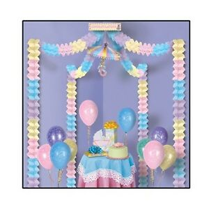 Baby shower unisex pastel party canopy hanging decoration for Baby shower canopy decoration