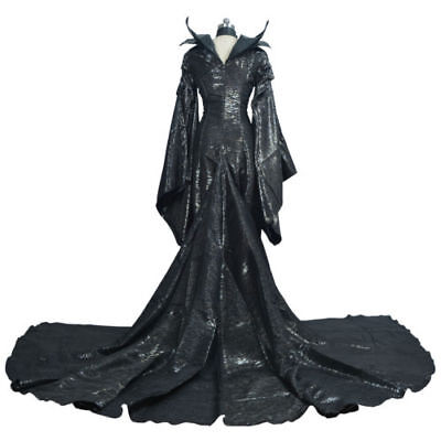 Movie Maleficent Angelina Jolie Halloween Witch Cosplay Costume Women Dress A - Maleficent Movie Costume