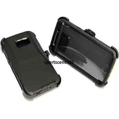 For Samsung Galaxy S6 Edge+ Plus Defender BLACK Case [Belt Clip Fits Otterbox]