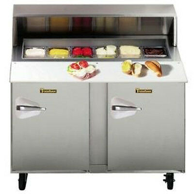 "Traulsen UPT4812RR-0300-SB Stainless Steel 48"" Compact Refrigerated Counter"