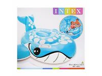 Intex Swimming Pool Inflatable Bashful Blue Whale Ride-On