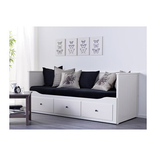 Ikea Hemnes Day Bed Sofa Double Storage Frame And Two Sprung Mattresses