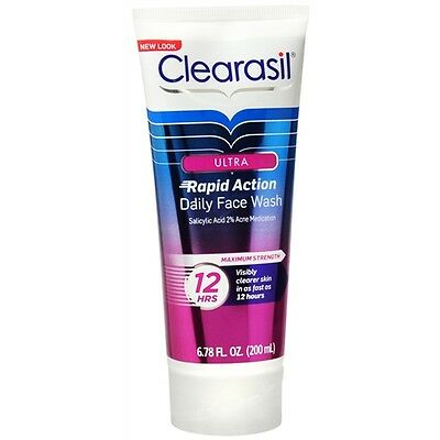Clearasil Ultra Daily Face Wash Rapid Action Acne Medication 6.78 fl oz (200 ml) ()
