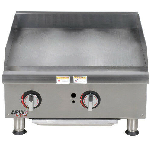 "Apw Wyott Ggm-24i 24"" Gas Countertop Champion Griddle With Manual Controls"