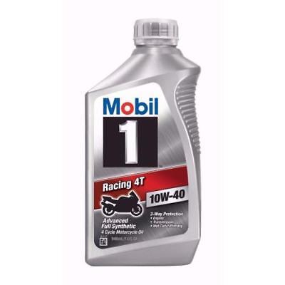 Mobil 1 Racing 4T 10W-40 Motorcycle Oil, 1-Quart 122286