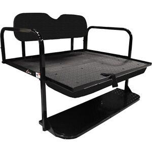 Rear Flip seat kit for EZGO Golf Cart Medalist/TXT model (Black)