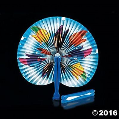 12 Tropical Fish Folding Fans Kids Ocean Theme Birthday Party Favors Gifts Luau](Tropical Fans)
