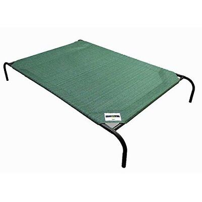 Elevated Knitted Fabric Dog Cot In Out Door Camp Pet Cat Breathable Cooling Bed