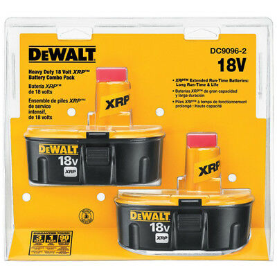 DeWALT DC9096-2 18-Volt 2.4 Ah XRP Ni-Cd Cordless Power Tool Battery - 2pk