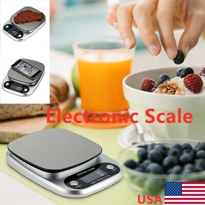 Accurate Digital Kitchen Food Scale Gram Electronic Stainles