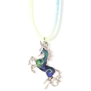 NEW Unicorn Mood Necklace Color Change Pendant Liquid Crystal Thermo