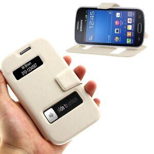 Cover custodia per samsung galaxy trend lite gt s7390 pelle stand flip case view ebay - Samsung galaxy trend lite s7390 ...