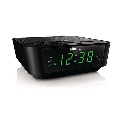 New Philips Digital Tuning Alarm Clock Radio With Dual Alarm