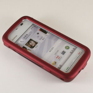 Rubber Red Hard Case for Nokia 5230 Nuron