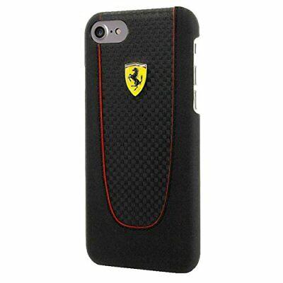 Ferrari Pit Stop iPhone 7 Real Carbon Fiber  Hard Case Red Trim - Black