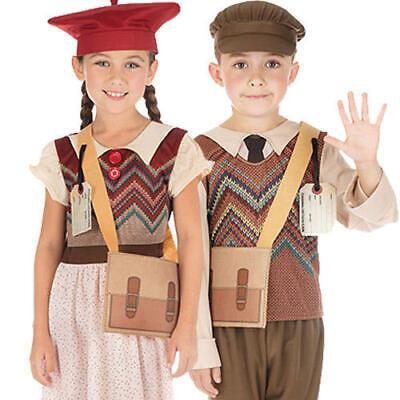 Wartime Kids Fancy Dress 1940s WW2 School Boys Girls World Book Day Costumes  - Ww2 Costumes Kids