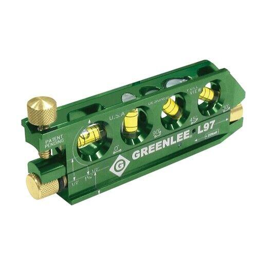"Greenlee L97 5-1/16"" 4 Vials Professional Grade Mini-Magnet Laser Level"